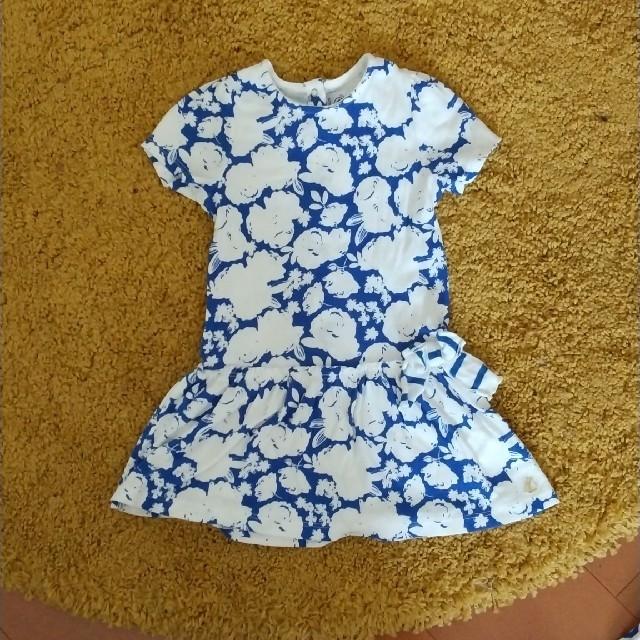 PETIT BATEAU(プチバトー)のプチバトー ワンピース 花柄 86cm 美品 キッズ/ベビー/マタニティのベビー服(~85cm)(ワンピース)の商品写真