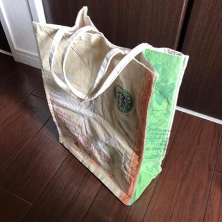 スターバックスコーヒー(Starbucks Coffee)のトートバッグキャンバススタバエコバッグ紙袋風旧ロゴ(トートバッグ)