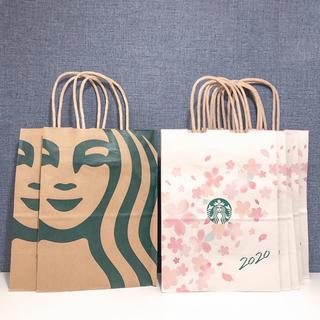 スターバックスコーヒー(Starbucks Coffee)のスターバックス さくら限定 サクラ 桜 ショップ袋 ショッパー 7枚 スタバ(ショップ袋)