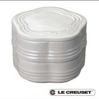 LE CREUSET - 【新品未使用品】ル・クルーゼ・スタッキング ラムカン フルール ホワイトラスター
