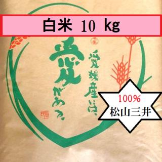 お米 令和元年 愛媛県産松山三井 白米 10㎏