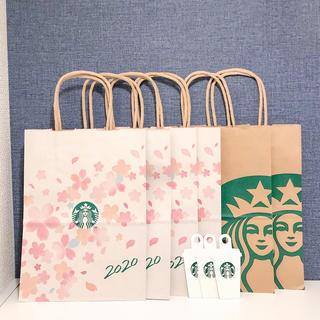 スターバックスコーヒー(Starbucks Coffee)のスターバックス さくら限定 サクラ 桜 ショップ袋 ショッパー 6枚 スタバ(ショップ袋)