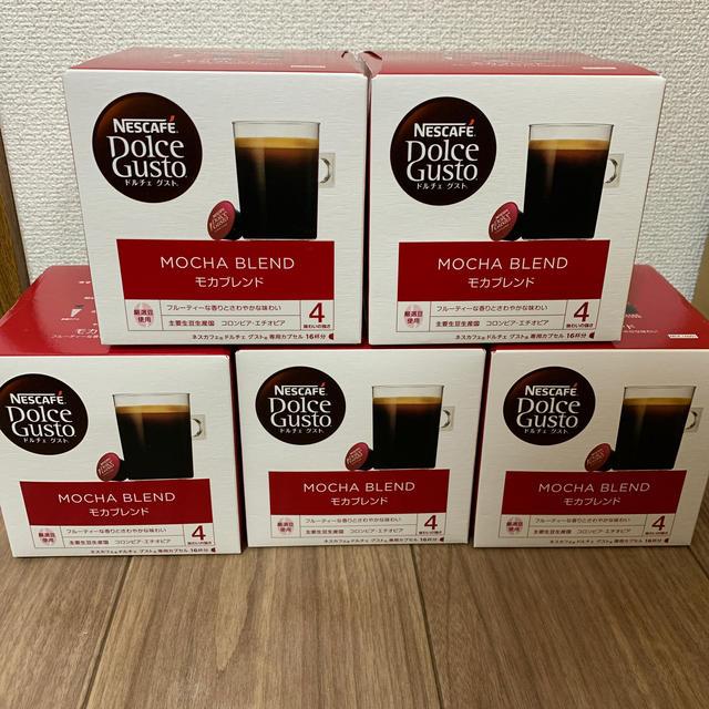 Nestle(ネスレ)のネスカフェ ドルチェグスト モカブレンド 16杯分×5箱 食品/飲料/酒の飲料(コーヒー)の商品写真