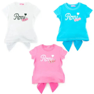 RONI -  RONI❤️リボン付きTシャツ