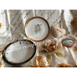 アンティーク ローズ キャンドルスタンド 天使 薔薇 食器 TDL レアバッチ(食器)
