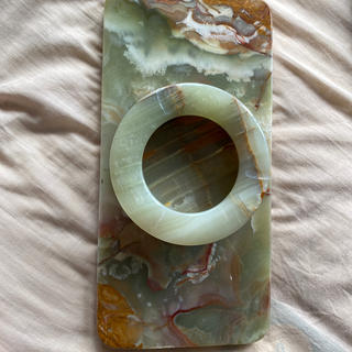 大理石の灰皿と大理石のプレートのセットです。(灰皿)
