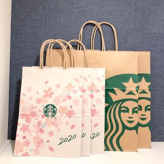 スターバックスコーヒー(Starbucks Coffee)のスターバックス さくら限定 サクラ 桜 ショップ袋 ショッパー 5枚 スタバ(ショップ袋)