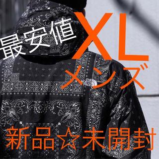 THE NORTH FACE - XL ノベルティ コンパクトジャケット  バンダナ ブラック 新作 ペイズリー