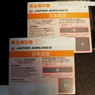 JAL(日本航空) - JAL  日本航空 株主優待券 2枚セット