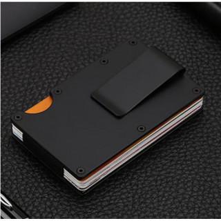 マネークリップ カードケース 財布 ミニマリスト コンパクト 黒 ブラック(財布)