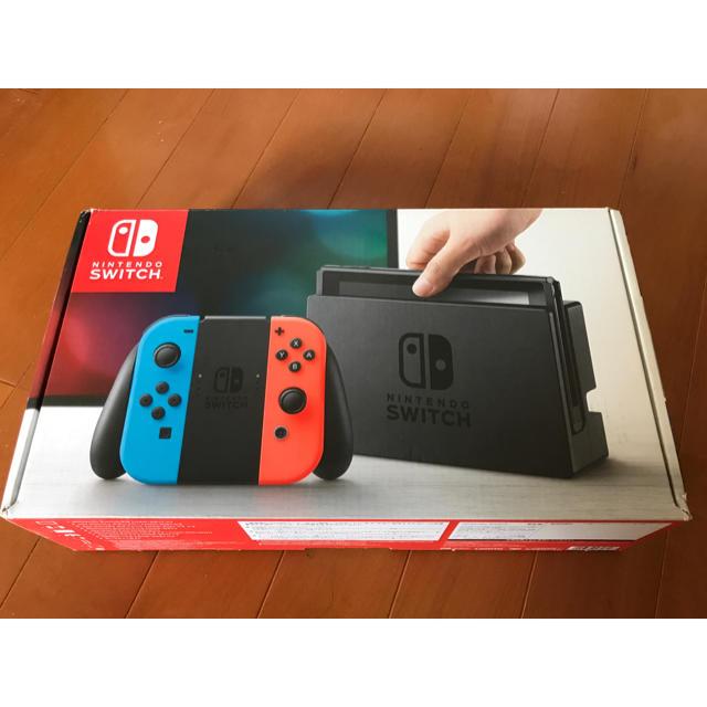 Nintendo Switch(ニンテンドースイッチ)のNintendo Switch Joy-Con (L) ネオンブルー/ (R)  エンタメ/ホビーのゲームソフト/ゲーム機本体(家庭用ゲーム機本体)の商品写真