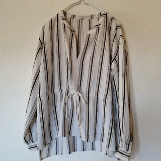 chocol raffine robe - ショコラフィネローブ*ストライプスキッパーブラウス