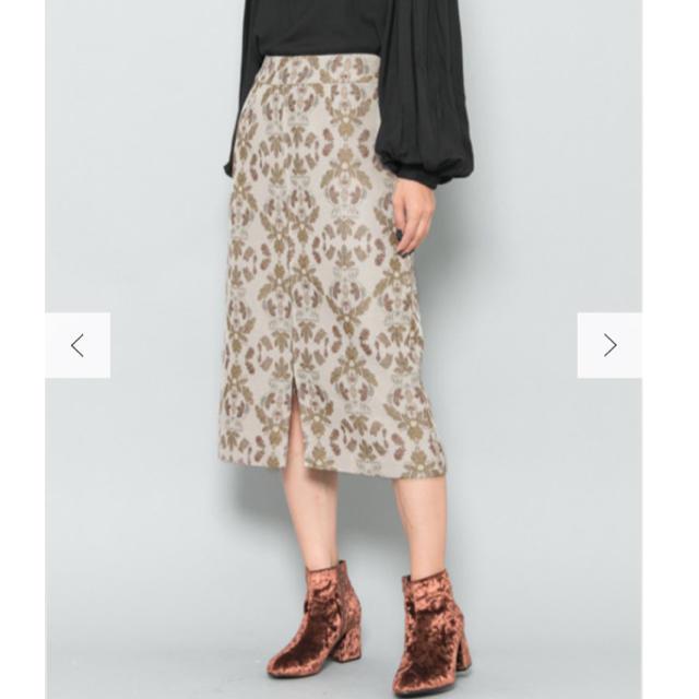 SENSE OF PLACE by URBAN RESEARCH(センスオブプレイスバイアーバンリサーチ)の[洗える]美品 バティックタイトスカート 定価¥6,490 レディースのスカート(ひざ丈スカート)の商品写真