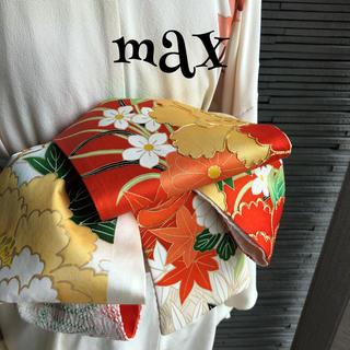 正絹 兵児帯 958 半幅帯 ハンドメイド 大人用 MAX
