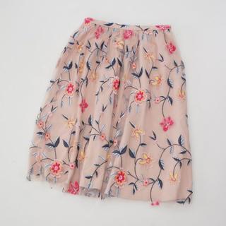 ZARA - 試着のみ美品ザラZARAお花刺繍チュールスカート jillstuart
