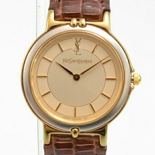 Saint Laurent - 【未使用品】イヴサンローラン YSL レディース腕時計 ブラウンレザーベルト