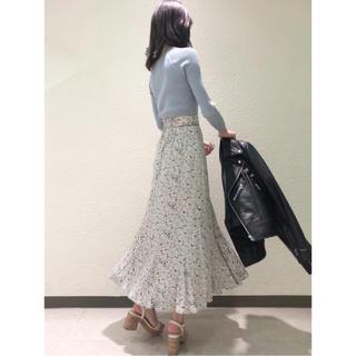 snidel - プリントナローフレアスカート