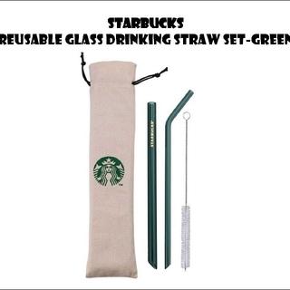 スターバックスコーヒー(Starbucks Coffee)のスターバックス リユーザブルガラスストローセット グリーン(カトラリー/箸)
