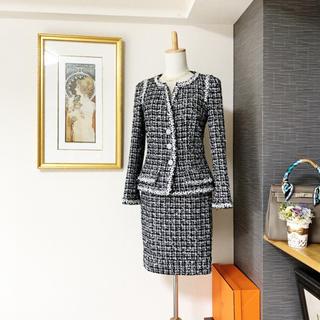 CHANEL - 新品同様 シャネル お花ツイード スーツ セットアップ