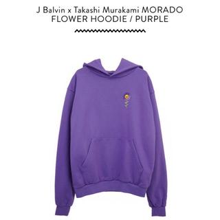 """J Balvin x 村上隆""""Morado Flower Hoodie"""" 紫"""