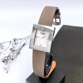 Hermes - 【仕上済/ベルトニ色付】エルメス スクエア シルバー レディース 腕時計