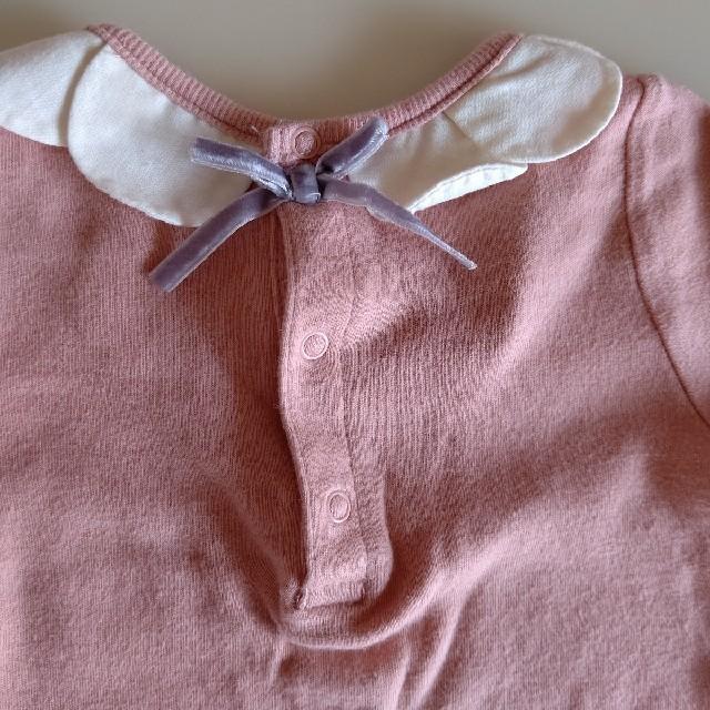 petit main(プティマイン)のプティマイン ロンパース70 スタイ キッズ/ベビー/マタニティのベビー服(~85cm)(ロンパース)の商品写真