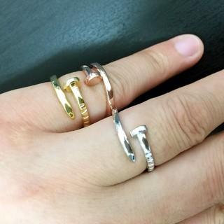 176【艶あり!】グレードUP!可愛い 釘指輪釘リング(リング(指輪))