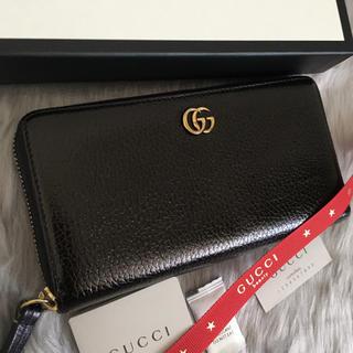 Gucci - 極美品 グッチ 長財布 マーモント ラウンドファスナー