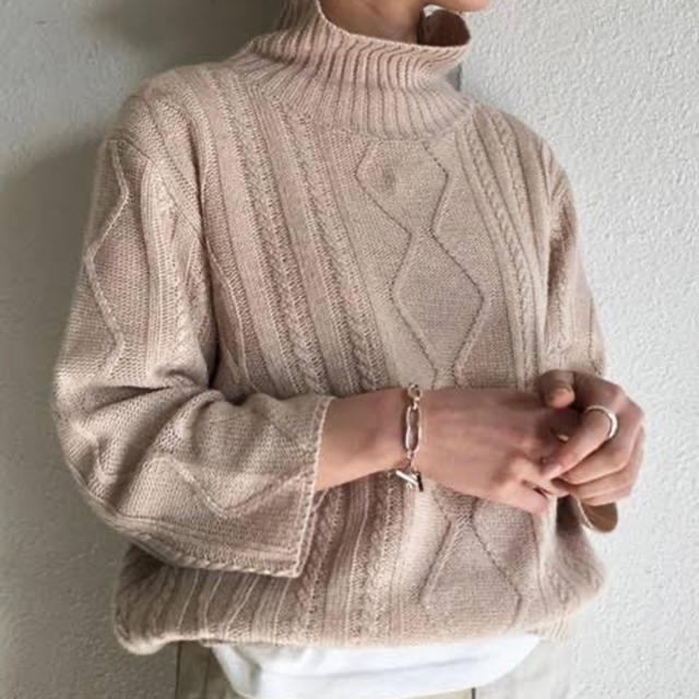 TODAYFUL(トゥデイフル)のハイネックアランニット トゥデイフル  todayful レディースのトップス(ニット/セーター)の商品写真