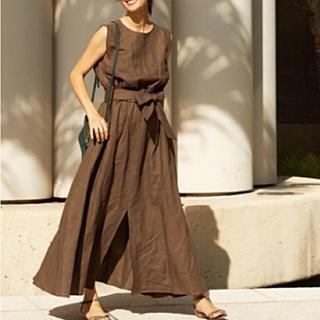 トゥモローランド(TOMORROWLAND)のrei. Linen Dress リネン マキシワンピース ブレンダ ハワイ (ロングワンピース/マキシワンピース)