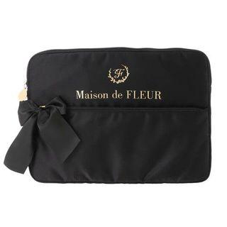 Maison de FLEUR - サテンリボンPCケース(ブラック)