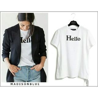 MADISONBLUE - 大人気! 新品★20SS マディソンブルー HELLO ロゴ Tシャツ 01