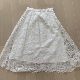 JUSGLITTY - ジャスグリッティー レースミディアム丈スカート