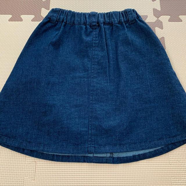 petit main(プティマイン)のプティマイン   デニム風スカート 100 キッズ/ベビー/マタニティのキッズ服女の子用(90cm~)(スカート)の商品写真