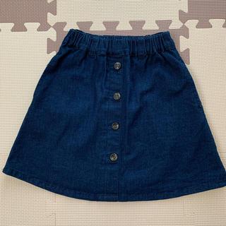 petit main - プティマイン   デニム風スカート 100