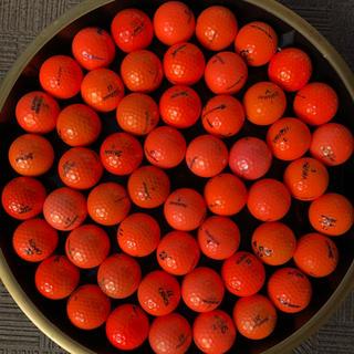 キャロウェイ(Callaway)のゴルフボール ロストボール オレンジ 赤 52個(その他)