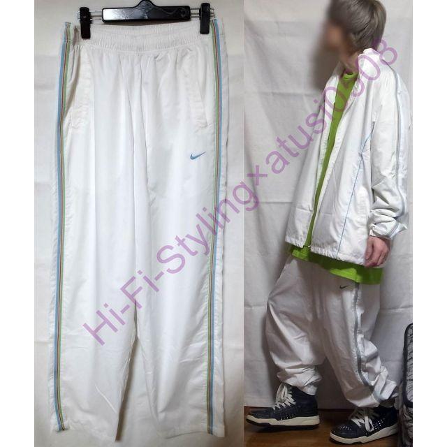 NIKE(ナイキ)の NIKE ナイキ 90's~00's ヴィンテージ ナイロンパンツ 白 XL メンズのパンツ(その他)の商品写真