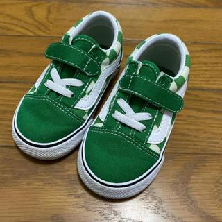 VANS - 🌿VANS キッズ オールドスクール グリーン 緑 美品