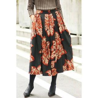 IENA - IENA LA BOUCLE フラワージャガードボリュームスカート.