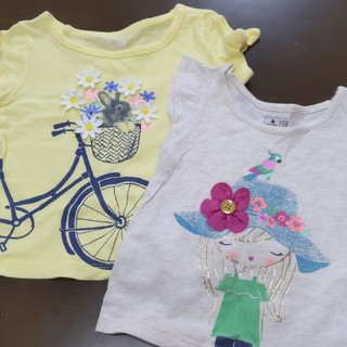 babyGAP - babyGap半袖Tシャツ2枚 女の子80