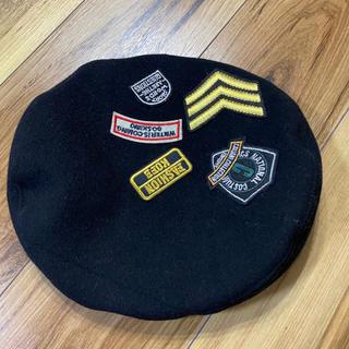 スピンズ(SPINNS)のベレー帽 ブラック SPINNS(ハンチング/ベレー帽)