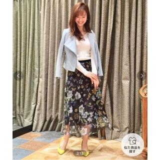 GRACE CONTINENTAL - グレース♡フラワーメッシュボタニカルスカート♡美品