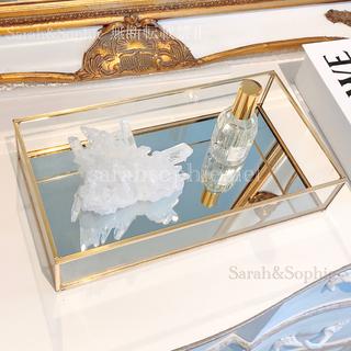 ZARA HOME - ガラスミラーデコレーショントレイ