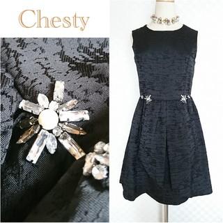 Chesty - 未使用◆Chesty*チェスティ◆ビジュータックジャガードワンピース