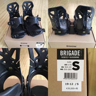 19-20 NOW BRIGADE Sサイズ BLACK/BROWN(バインディング)