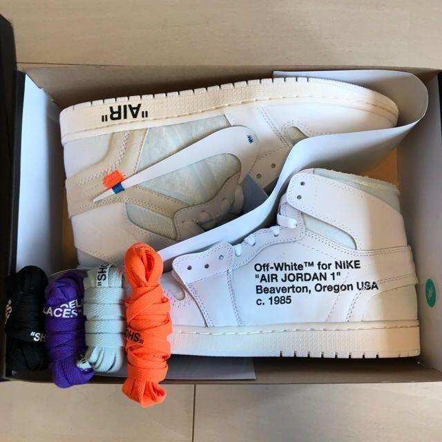 NIKE(ナイキ)のAIR JORDAN 1 X OFF-WHITENIKE × OFF-WHITE メンズの靴/シューズ(スニーカー)の商品写真