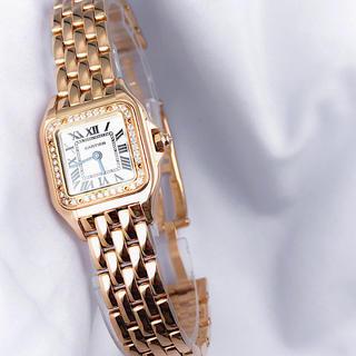 Cartier - 【仕上済】カルティエ パンテール K18PG 純正ダイヤ レディース 腕時計
