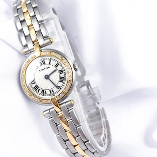 Cartier - 【保証書付】カルティエ パンテール ラウンド ダイヤ コンビ レディース 時計