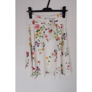 MISCH MASCH - 【内容】 ミッシュマッシュ 春にピッタリ 水彩 花柄 フレアスカート 着5  S