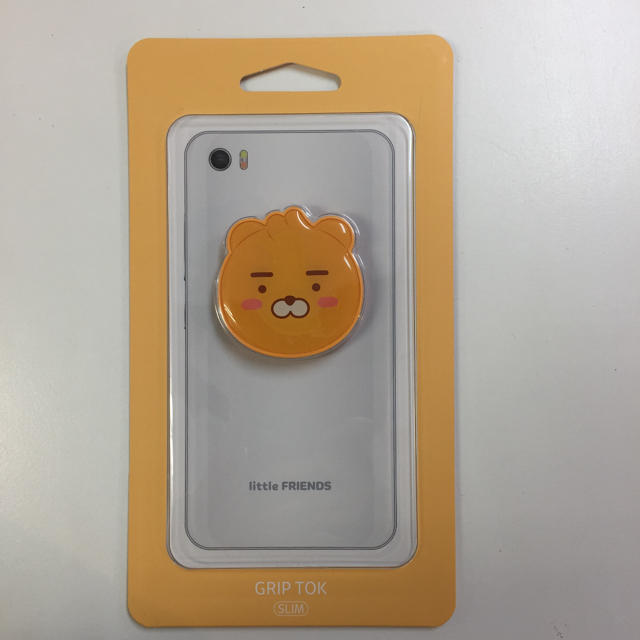新品 公式 カカオフレンズ リトルライアン グリップトック スマホ/家電/カメラのスマホアクセサリー(iPhoneケース)の商品写真